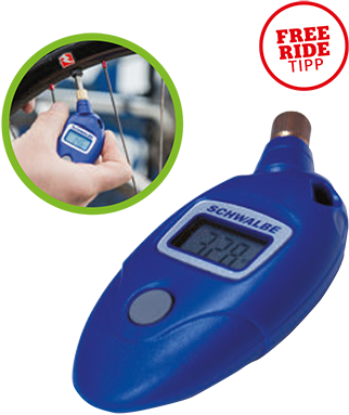 Schwalbe 6010 Airmax Pro Bike Bicycle Cycling Digital Pressure Gauge