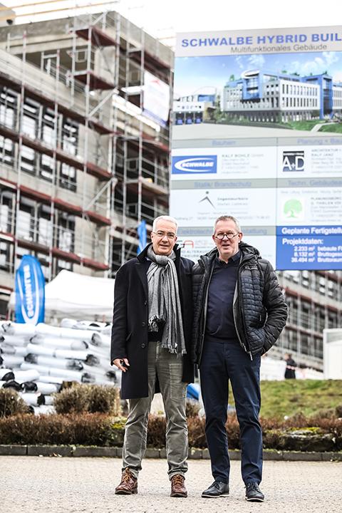 RICHTFEST FÜR DAS SCHWALBE HYBRID BUILDING